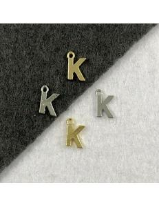 Подвеска Мелкая Буква K, 8,5*6мм