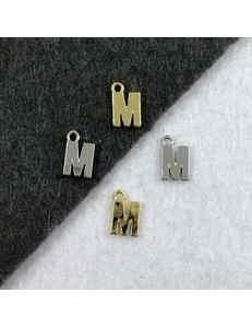 Подвеска Мелкая Буква M, 8,5*6мм
