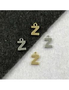 Подвеска Мелкая Буква Z, 8,5*6мм