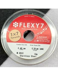 Тросик Flexy7, 0,4 мм, 10 метров, золотистый