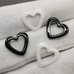 Подвеска Сердце, керамика, 14*13 мм