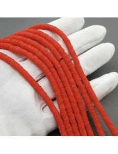 Бусины Рондели, силикон, красный, 4*1мм