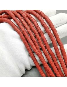 Бусины Рондели, силикон, бордовый, 5*1мм