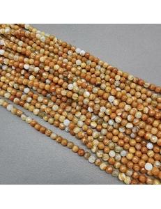 Бусина Агат тонированный граненный, светло-коричневый, 4.2 мм