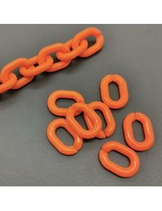 Звено Цепь Пластик, оранжевый, 18*13 мм