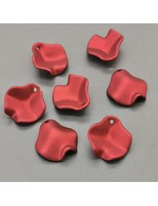 Подвеска Лепесток Розы, красный, 15 мм