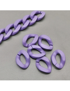 Звено Цепь Пластик, фиолетовый, 19*13мм