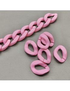 Звено Цепь Пластик, розовый, 19*13мм