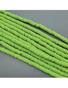 Бусины Рондели, силикон, салатовый-2, 6*1 мм