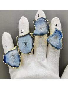 Кольца Агата в позолоте, тип 13