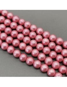 Жемчуг Майорка, 8 мм, ярко-розовая, фактурная