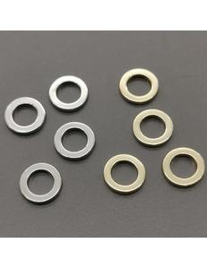 Колечки, прочные, не разъемные, 9*1,4 мм, позолота, родий