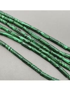 Бусина трубочка Малахит, имитация, 4*13 мм
