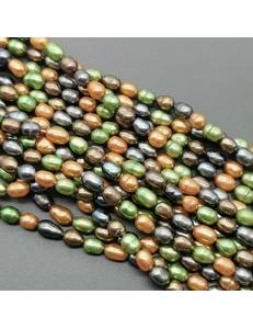 Жемчуг рисовый, 4-х цветный, 5.5*7 мм