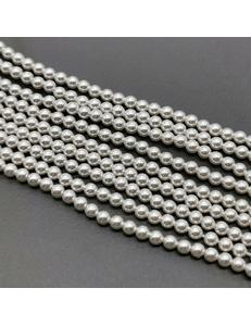 Бусина жемчуг Swarovski Crystal White, 12 мм