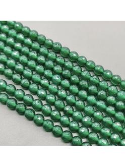 Бусина Агат зеленый, граненный, 8 мм
