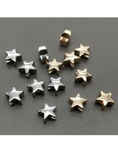 Бусина Звезда, 7*4 мм, позолота, родий