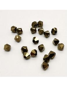 Бусина Биконусы Swarovski Crystal Dorado, 4 мм
