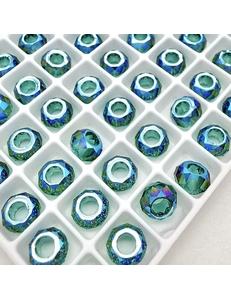 Бусина Рондели Swarovski Emerald Shimmer, 6 мм
