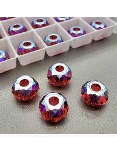 Бусина Рондели Swarovski Scarlet Shimmer, 8 мм