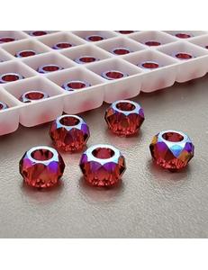 Бусина Рондели Swarovski Scarlet Shimmer, 6 мм