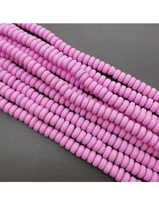 Бусины Рондели, силикон, лиловый, 6.5*3 мм