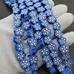 Бусины Голубые цветочки, силикон, 9,5 мм, шт