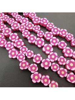 Бусина Розовые цветочки, силикон, 9,5 мм, шт