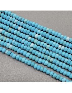 Бусина Турквенит, голубой, 4.3*2.5 мм