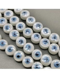 Бусина Глаз, 11*7 мм, керамика