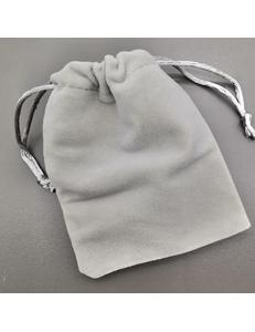Бархатный мешок, серый, 10*12 cм
