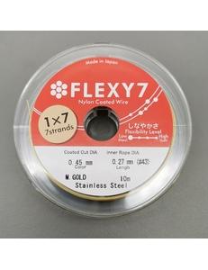 Тросик Flexy7, 0,45 мм, 10 метров, золотистый