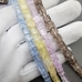 Бусина Сахарный кварц, квадрат, микс 2, колерованный, 6.5 мм