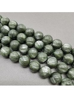 Бусина Серафинит, гладкий, 4.5 мм