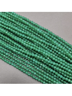 Бусина Халцедон граненный, зеленый, 3 мм