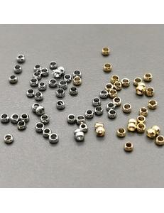 Кримпы круглые, 1,8 мм, позолота, родий