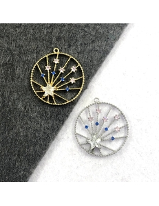Подвеска Звезда Искра, цирконы, 20мм