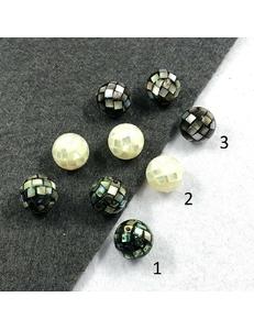 Бусины Перламутра полупросверленные, 12 мм