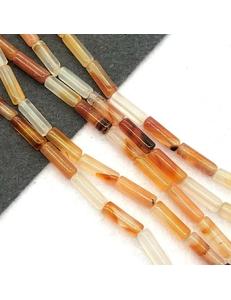 Бусины Агат, оранжевый, 13*4мм