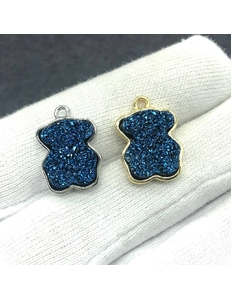Подвески Мишки кварца, синие, шт