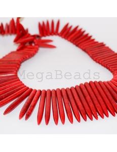 Говлит, палочки, красные, 20-50мм