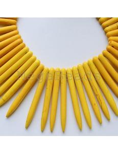 Говлит, палочки, желтые, 35-40мм
