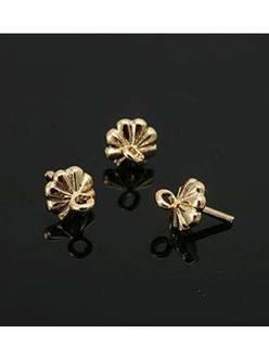 Бейлы Цветок для полупросверленных бусин, золото, 5мм