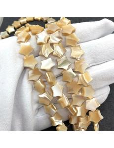 Бусина Звезда карамельного Перламутра, 11 мм
