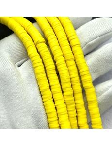 Бусины Рондели, силикон, ярко-желтый, 5*1мм